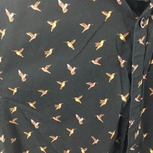 Denim & Flower Shirts - Short sleeve button down